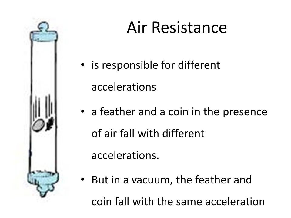 Air Resistance is responsible for different accelerations