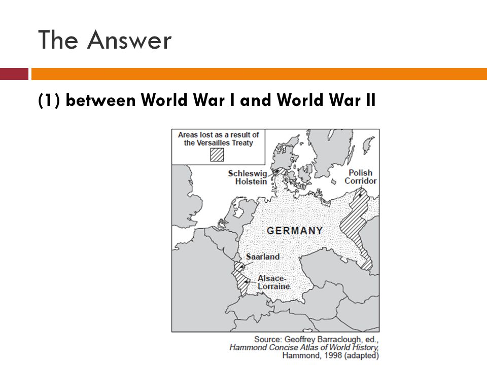The Answer (1) between World War I and World War II