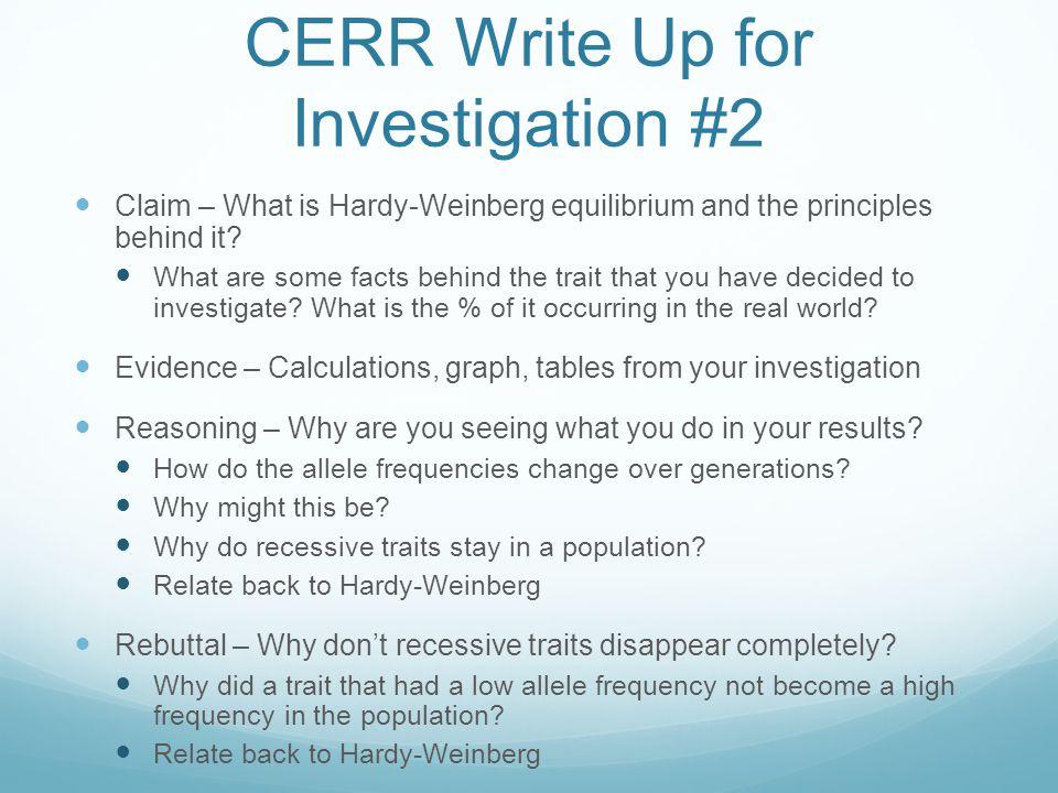 CERR Write Up for Investigation #2