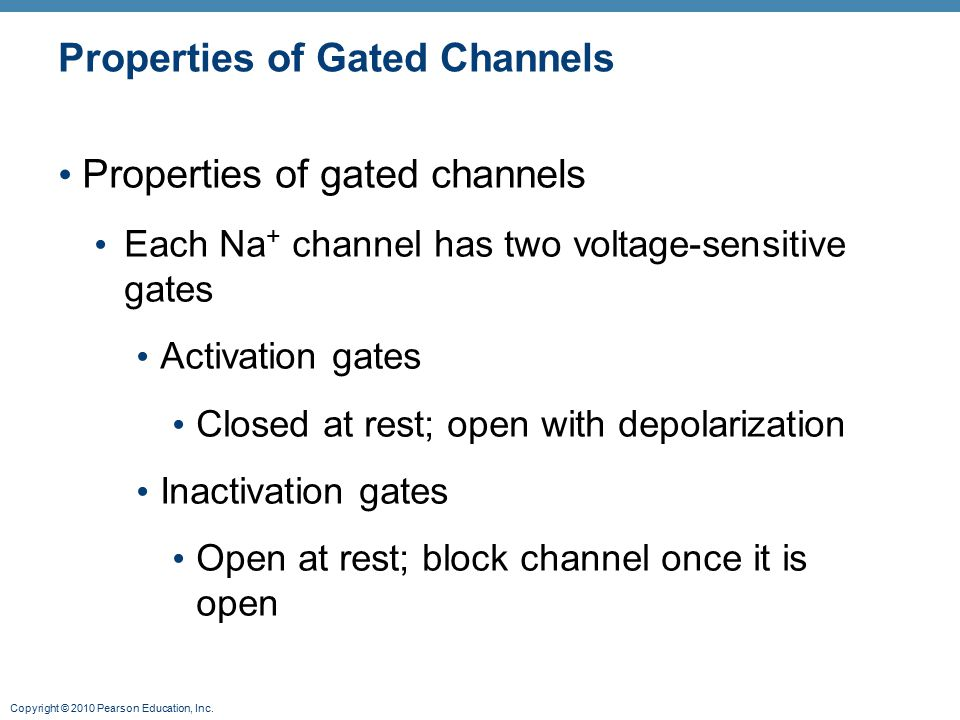 Properties of Gated Channels