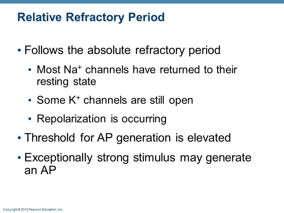 Relative Refractory Period