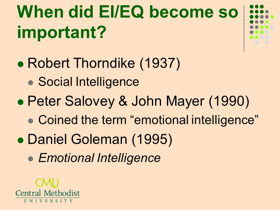 When did EI/EQ become so important