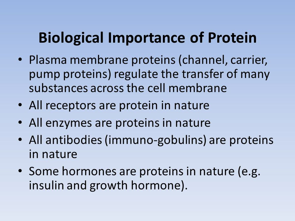 Biological Importance of Protein