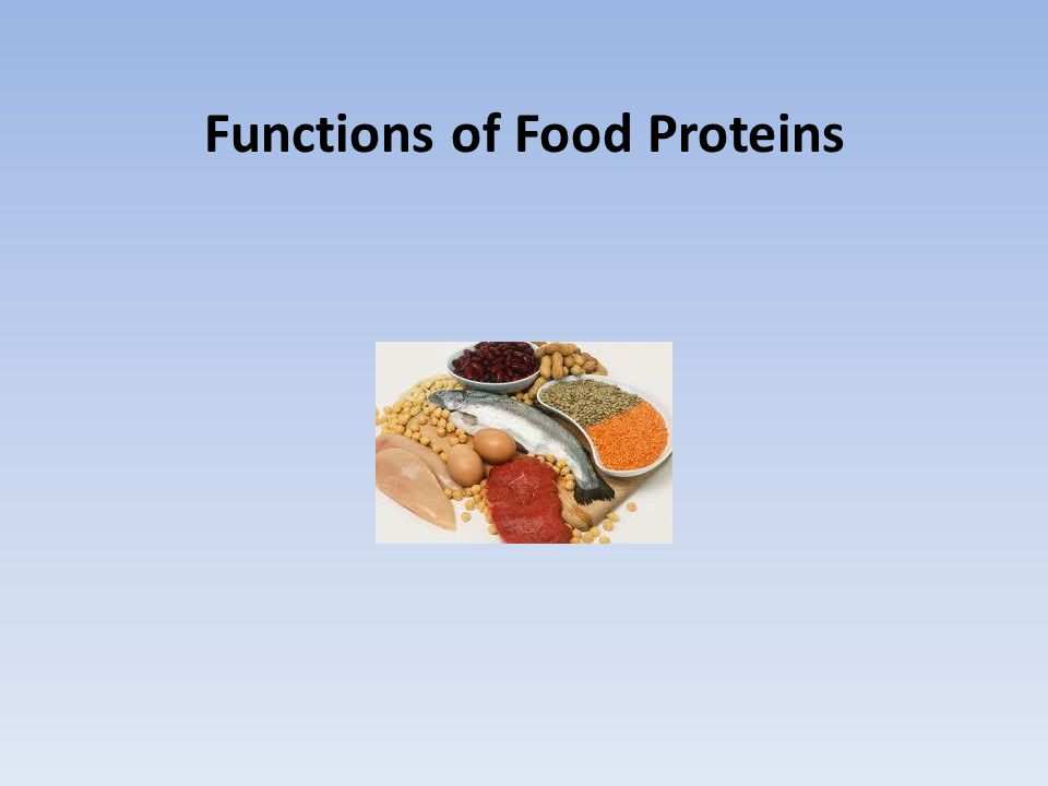 Functions of Food Proteins