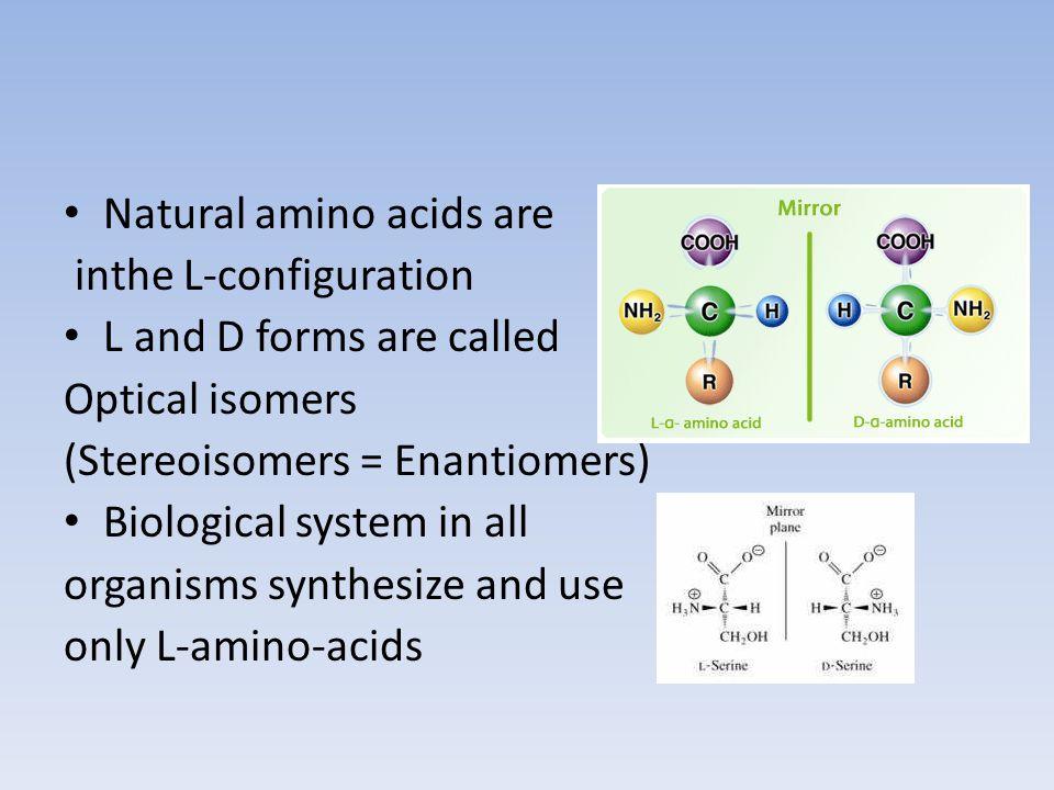 Natural amino acids are