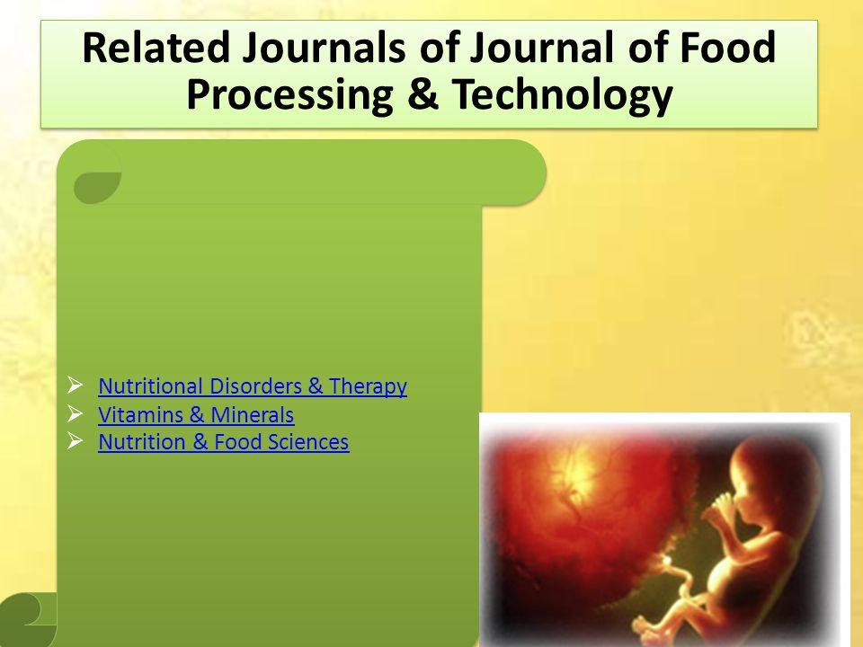 Related Journals of Journal of Food Processing & Technology