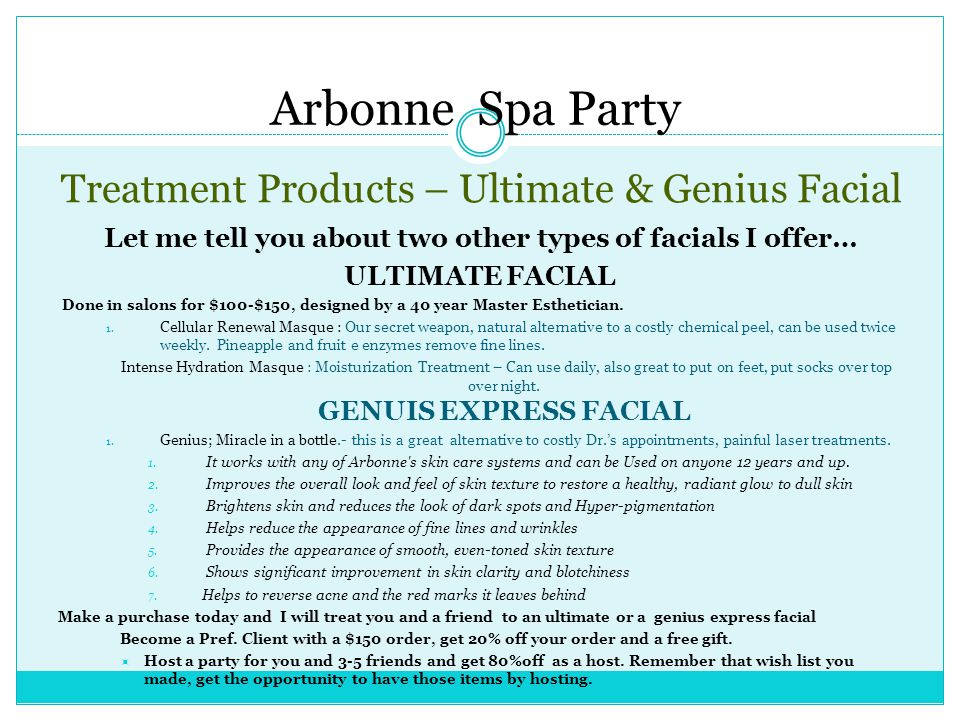 Treatment Products – Ultimate & Genius Facial