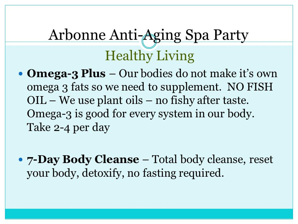 Arbonne Anti-Aging Spa Party