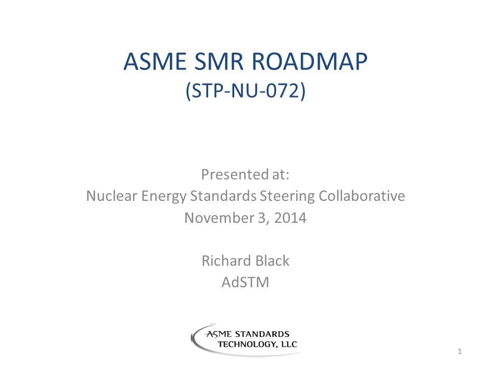 ASME SMR ROADMAP (STP-NU-072)