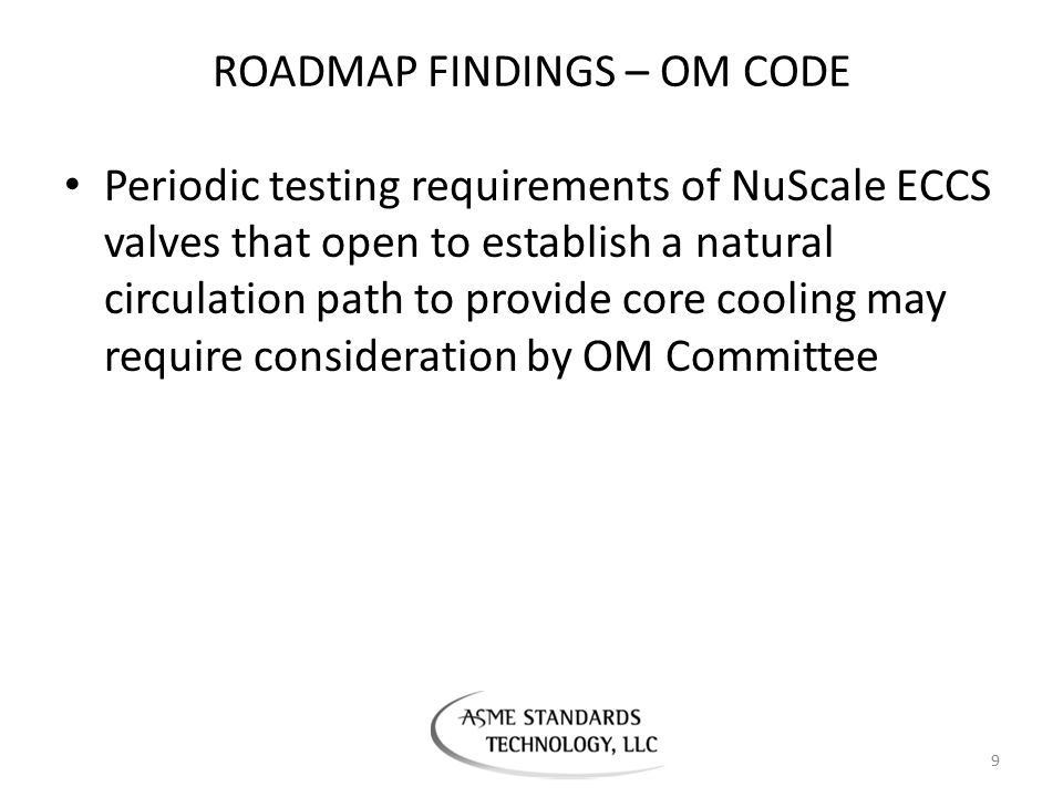 ROADMAP FINDINGS – OM CODE