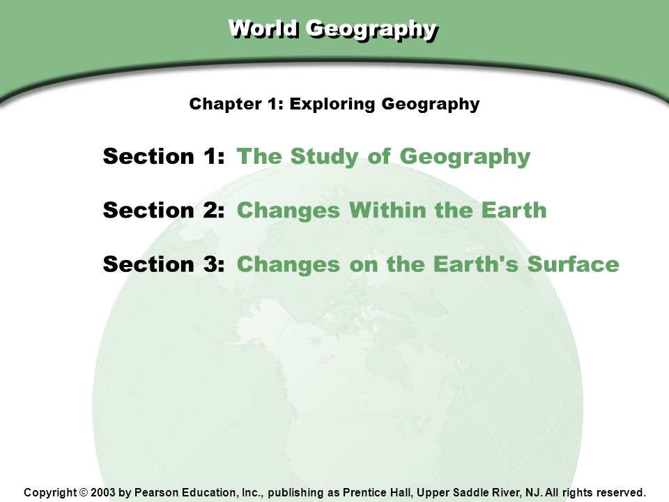 Chapter 1: Exploring Geography