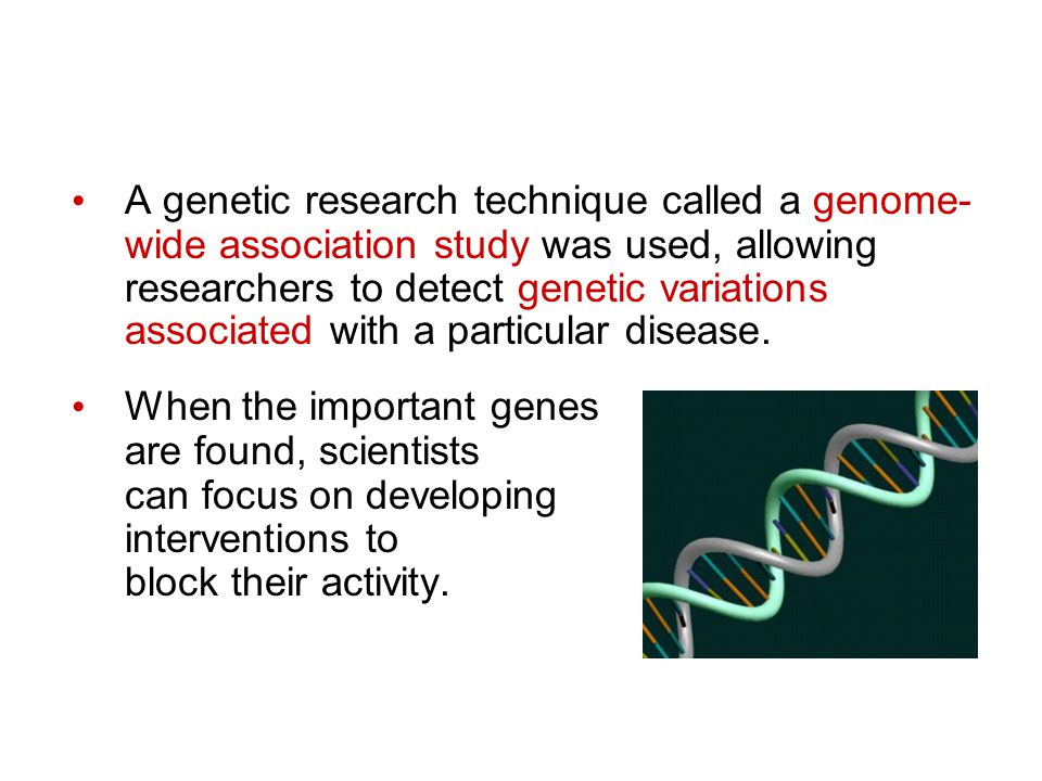 A genetic research technique called a genome-