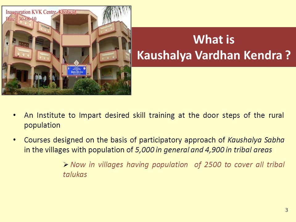 What is Kaushalya Vardhan Kendra