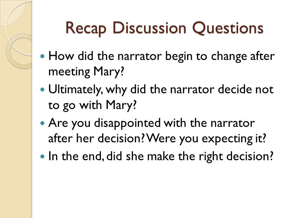 Recap Discussion Questions