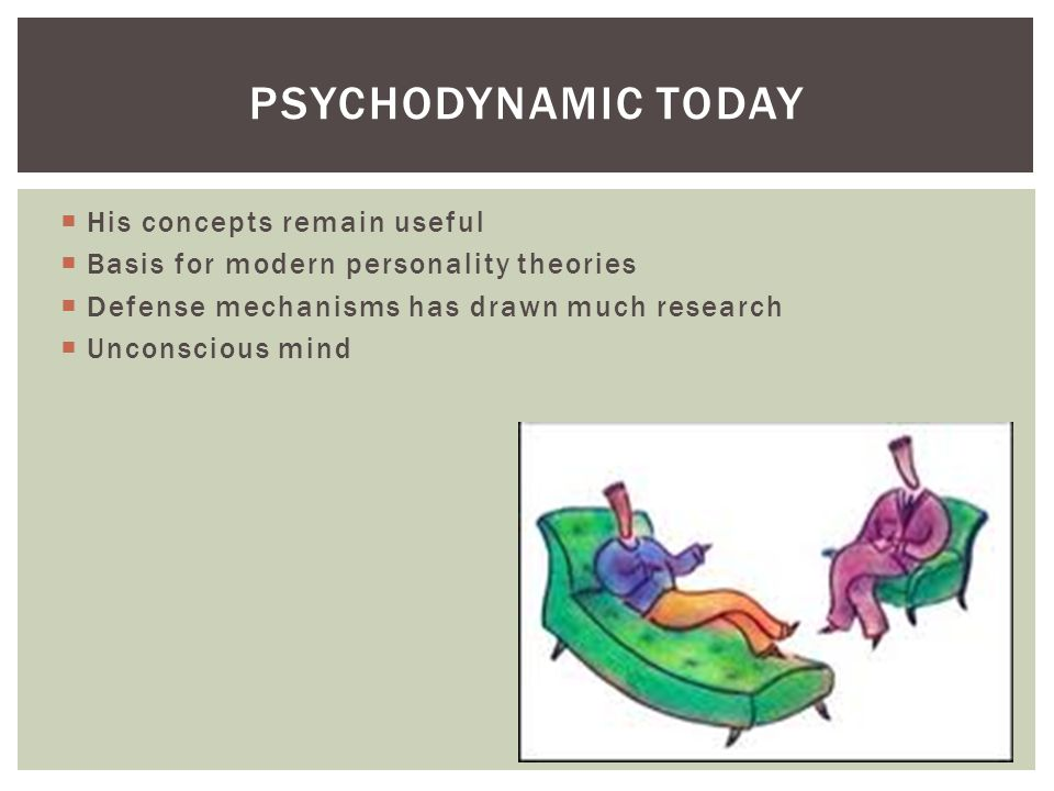 Psychodynamic today His concepts remain useful
