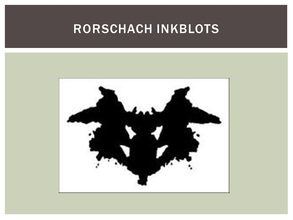 Rorschach inkblots Large number os sexual responses indicated schizo