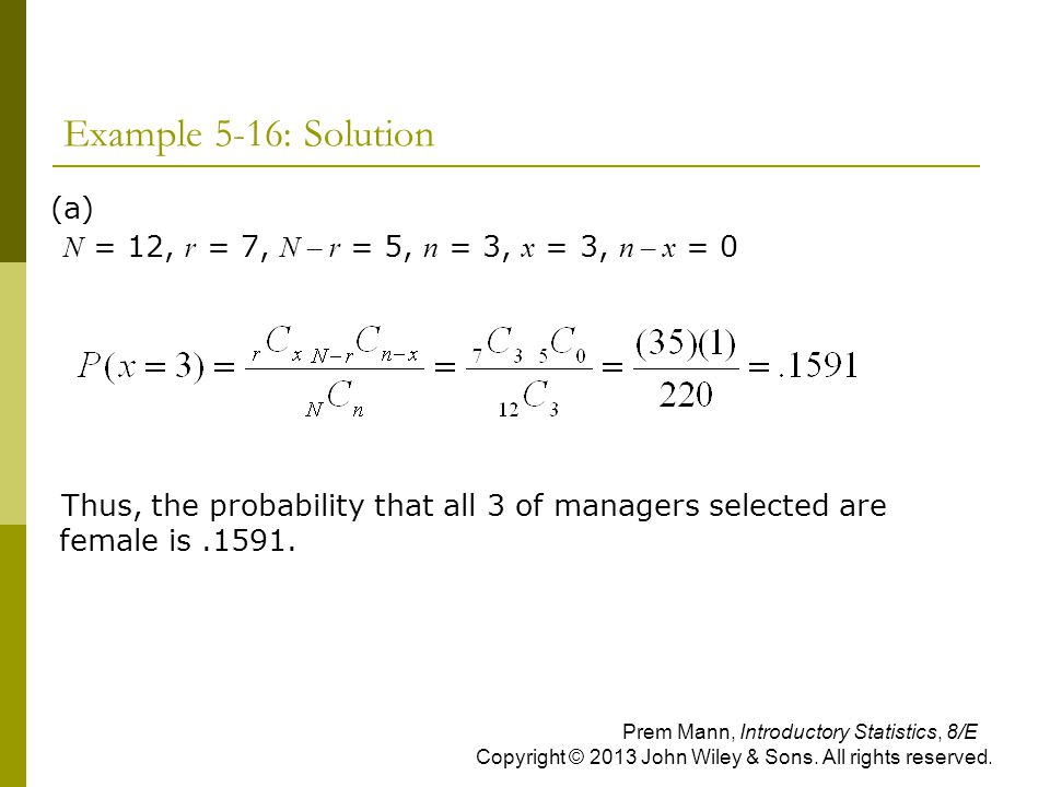 Example 5-16: Solution (a)