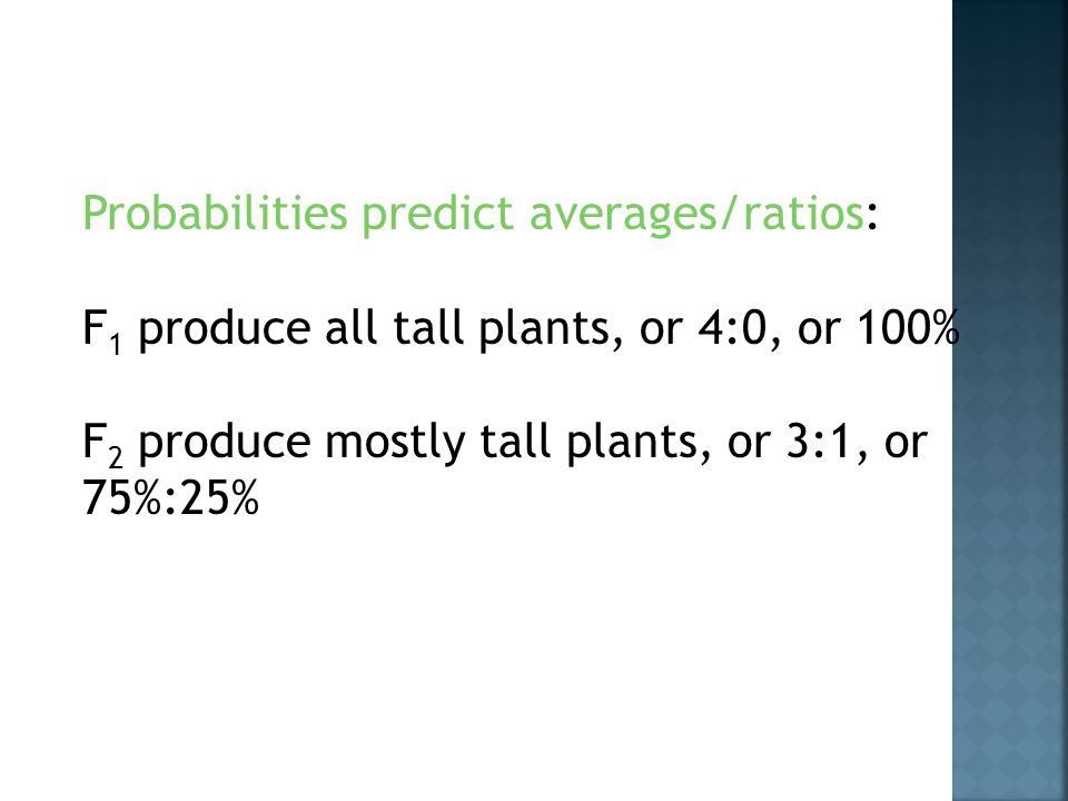 Probabilities predict averages/ratios: