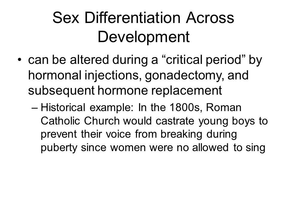 Sex Differentiation Across Development