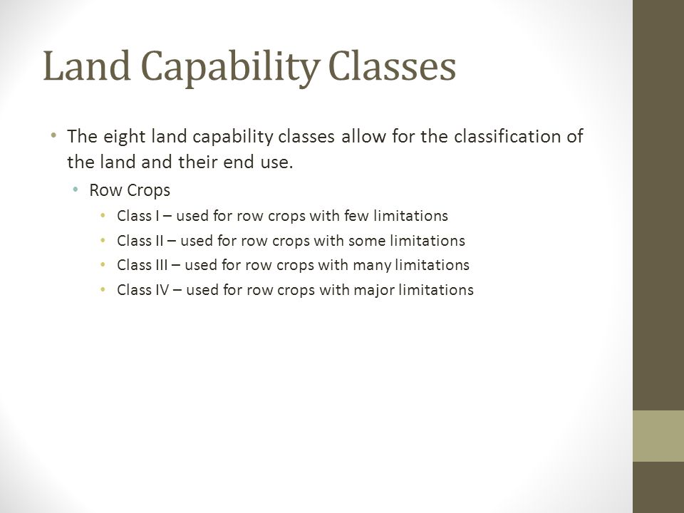 Land Capability Classes
