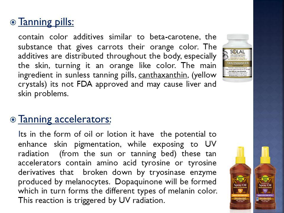 Tanning pills: