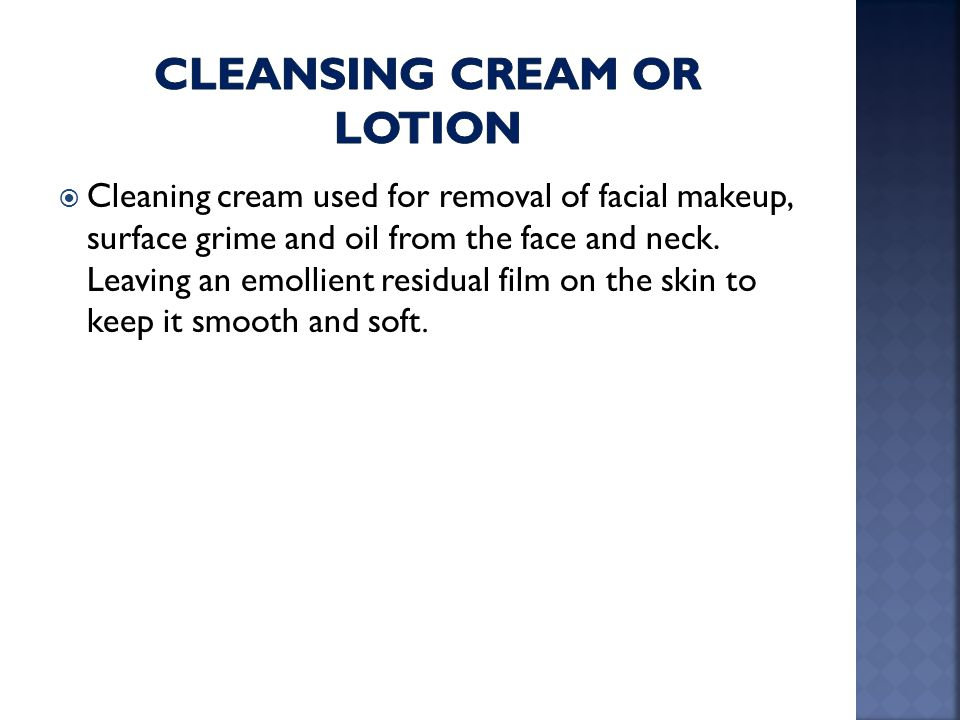 cleansing cream or lotion