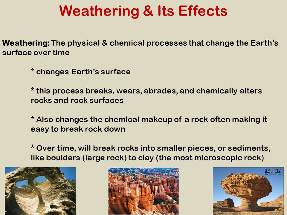 Weathering & Its Effects