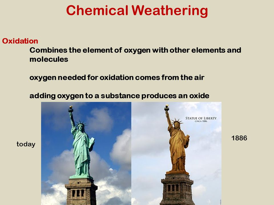 Chemical Weathering Oxidation