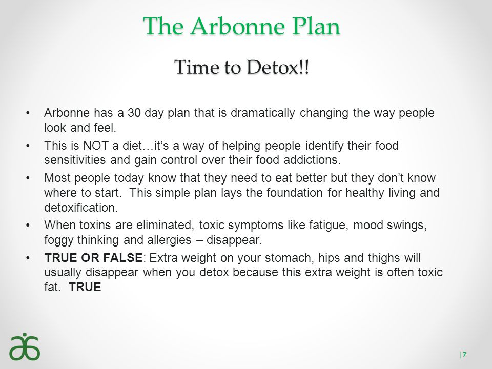 The Arbonne Plan Time to Detox!!