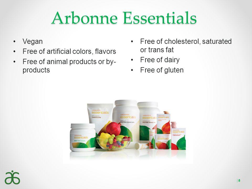 Arbonne Essentials Vegan Free of artificial colors, flavors