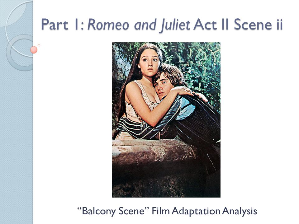 Part 1: Romeo and Juliet Act II Scene ii