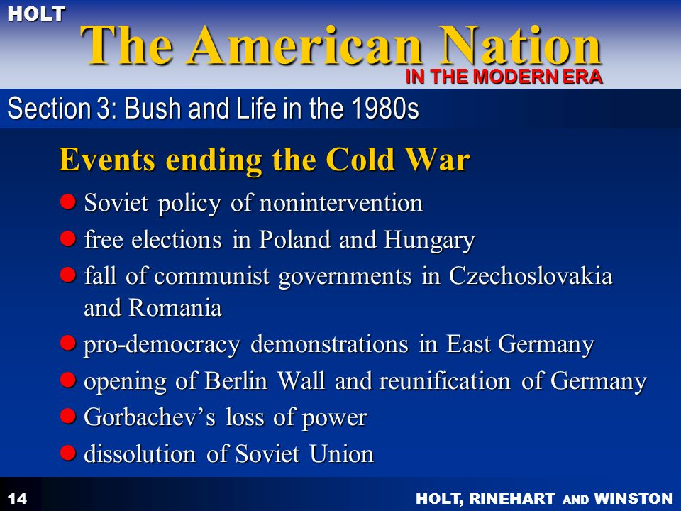 Events ending the Cold War