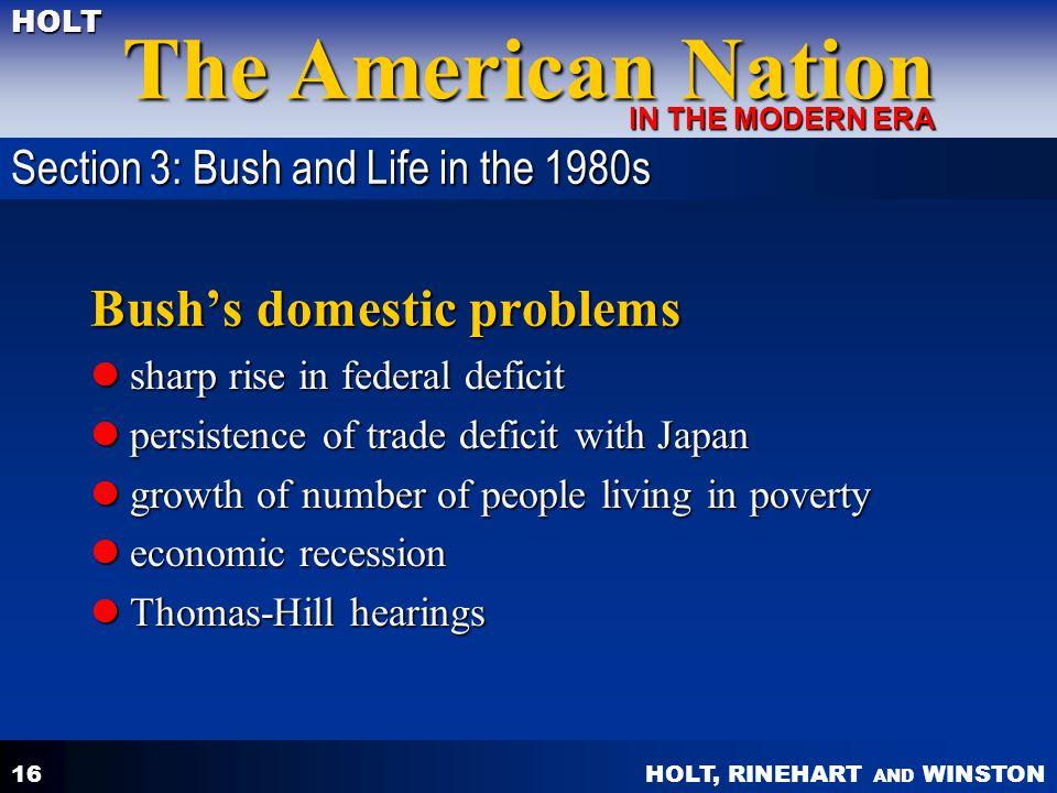 Bush's domestic problems