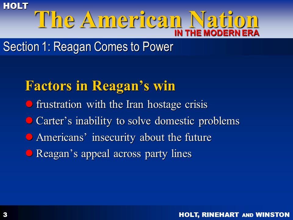 Factors in Reagan's win