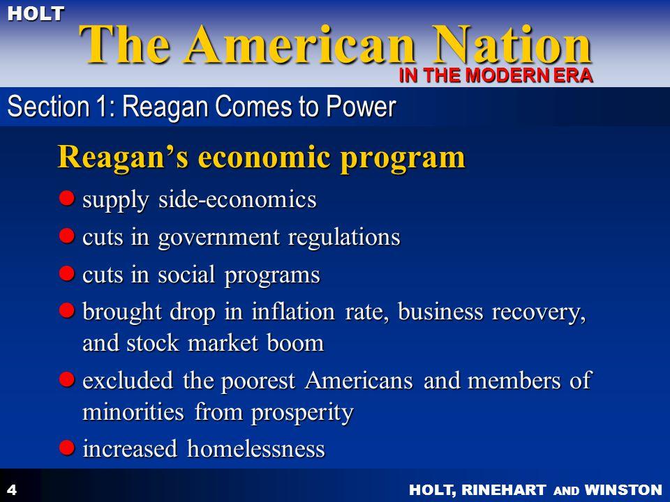 Reagan's economic program