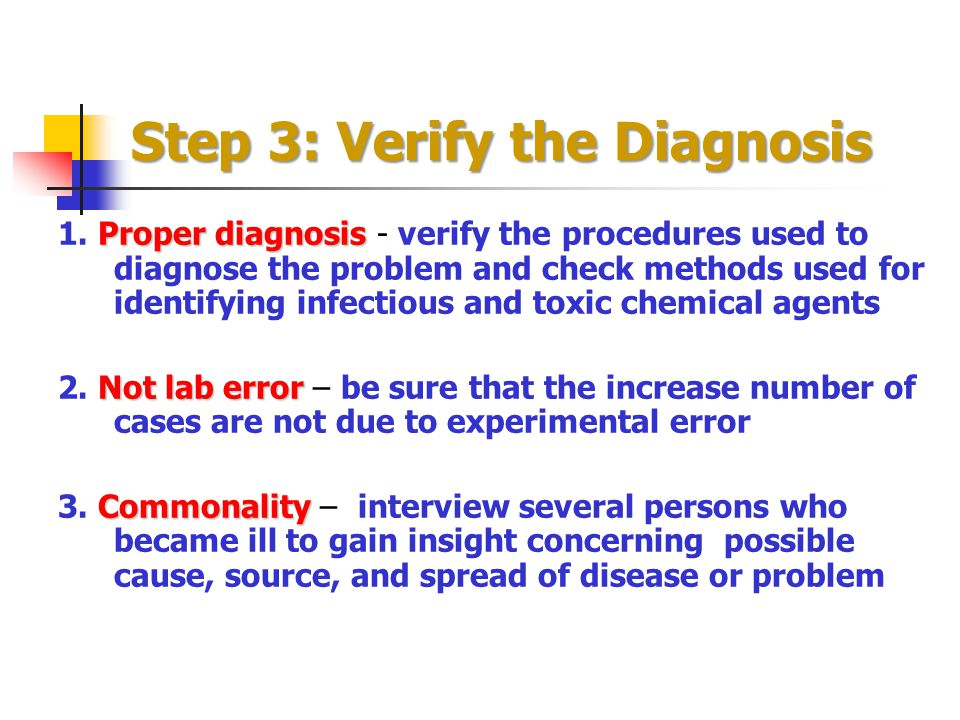Step 3: Verify the Diagnosis