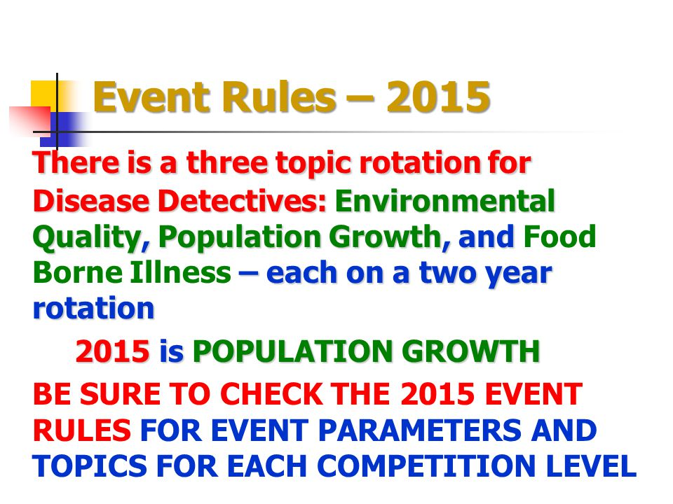 Event Rules – 2015