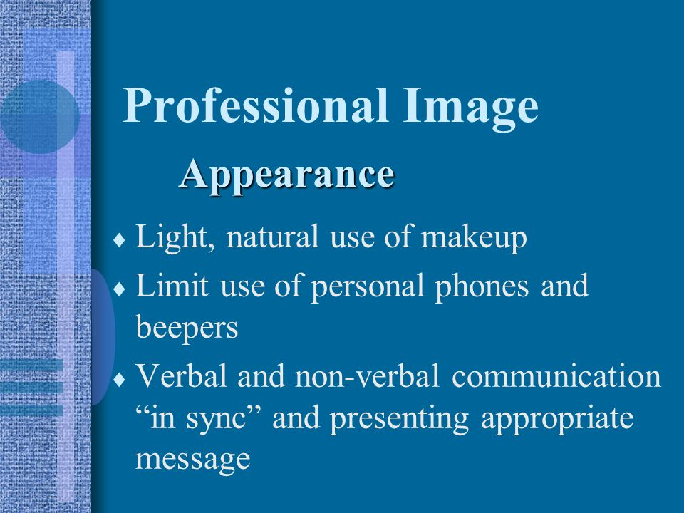 Professional Image Appearance Light, natural use of makeup
