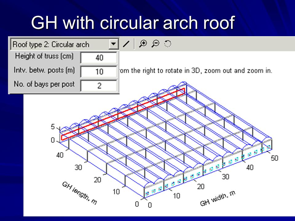 GH with circular arch roof