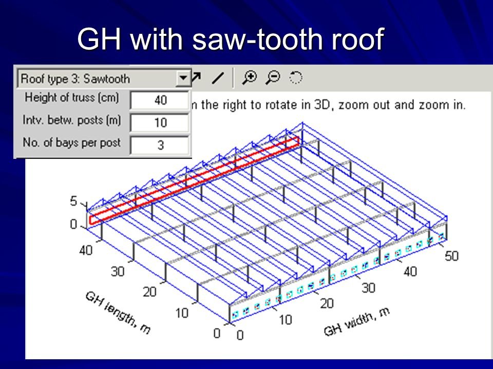 GH with saw-tooth roof