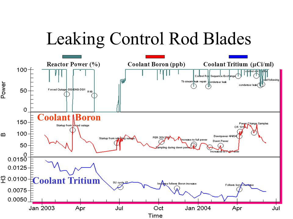 Leaking Control Rod Blades