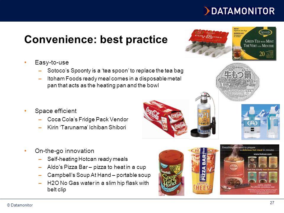 Convenience: best practice