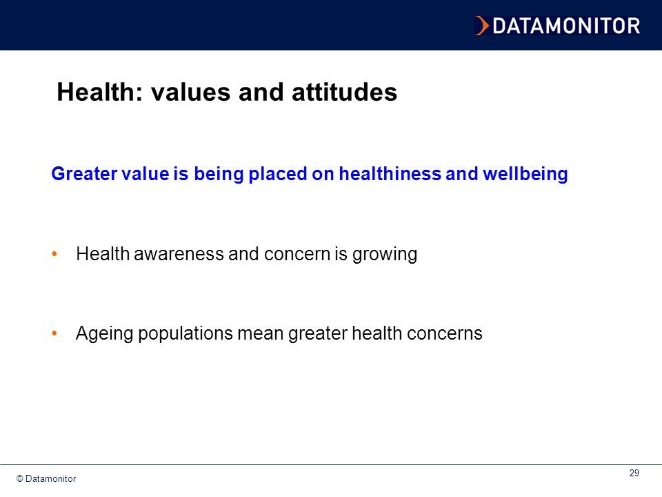 Health: values and attitudes