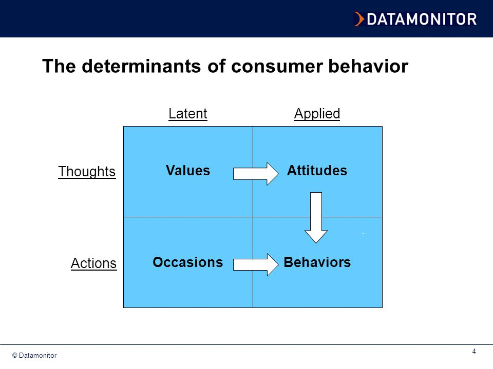The determinants of consumer behavior