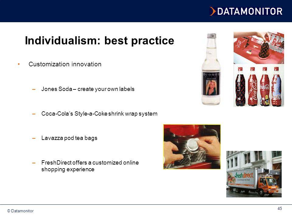 Individualism: best practice