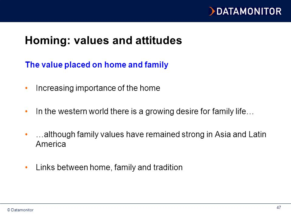 Homing: values and attitudes
