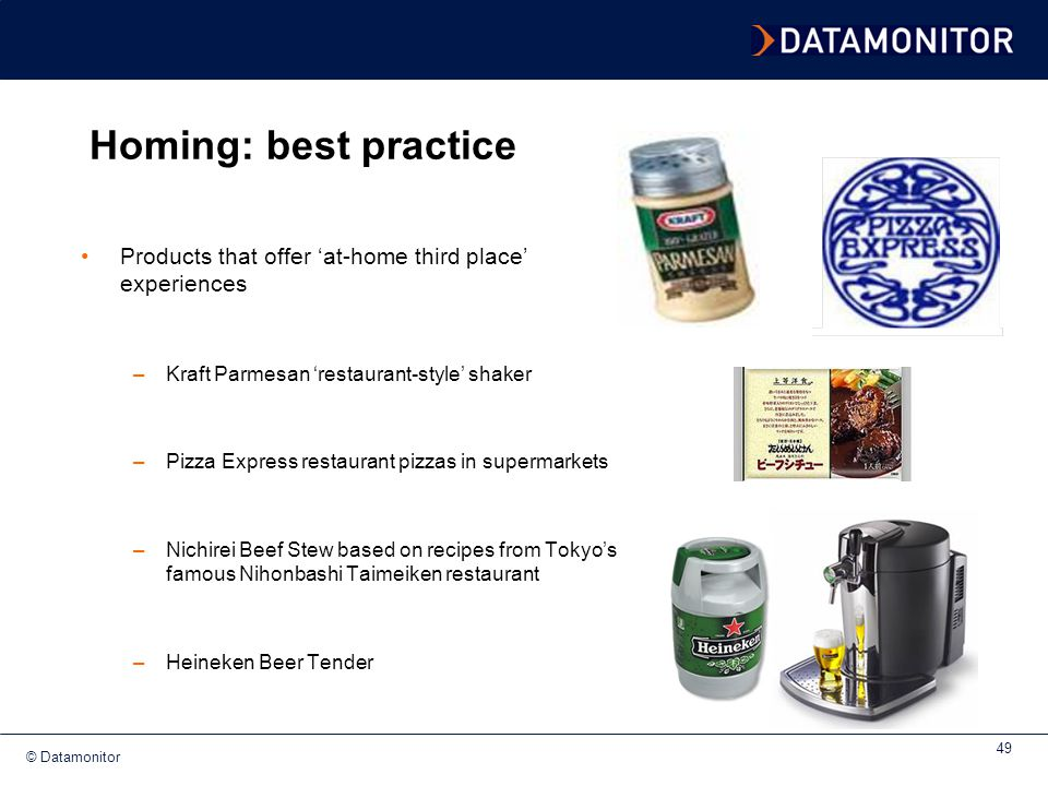 Homing: best practice Products that offer 'at-home third place' experiences. Kraft Parmesan 'restaurant-style' shaker.
