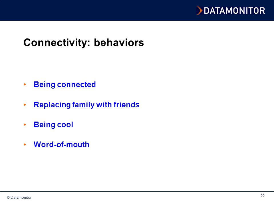 Connectivity: behaviors