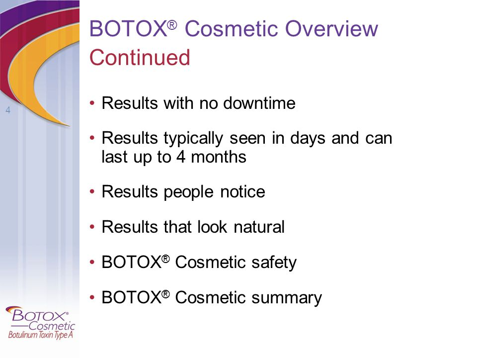 BOTOX® Cosmetic Overview