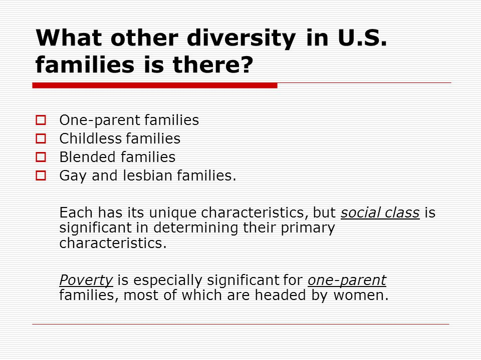 What other diversity in U.S. families is there